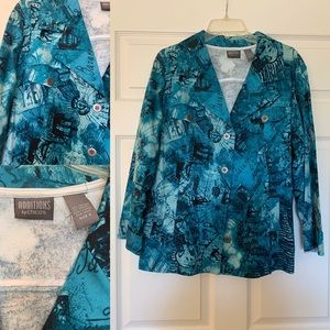 Additions by Chico's Beautiful Blue Jacket Size 3